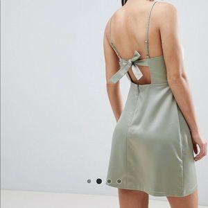 NWT ASOS Petite Cowl Neck Mini Dress Size 4
